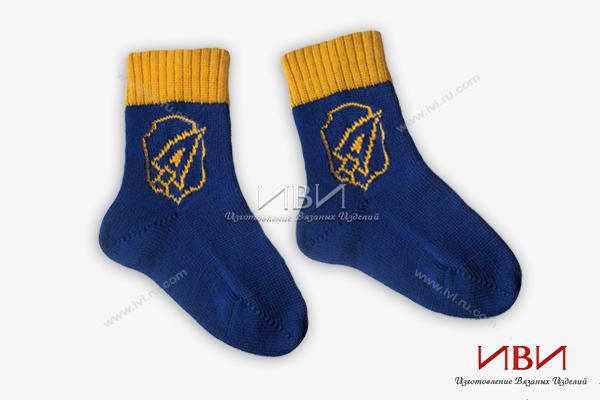 носки логотипом вязать с