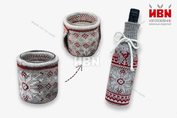 Чехол на бутылку и манжета с кармашком