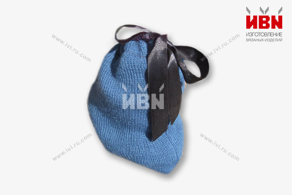 Мешочек подарочный синий