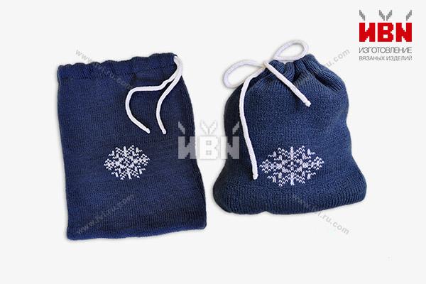 """Вязаные мешочки """"Снежинка"""""""