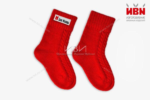 Вязаные носки с логотипом Банк Москвы
