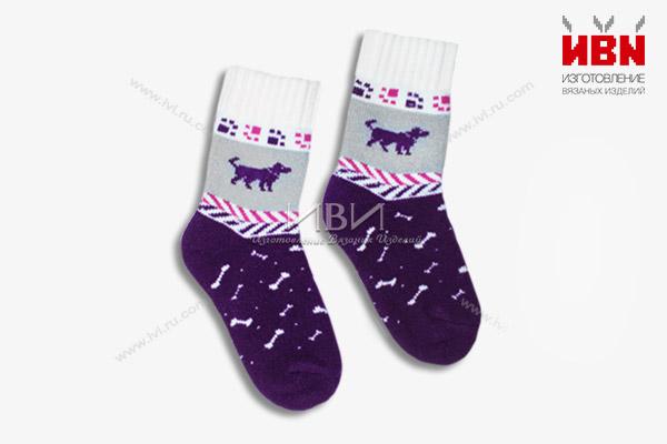 """Вязаные носки """"Год Собаки"""""""