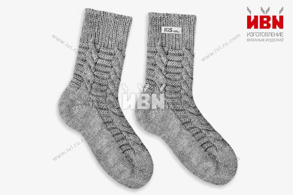 Вязаные носки с логотипом IGS