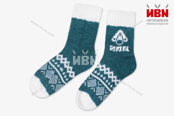 Вязаные носки с логотипом ИПЦ