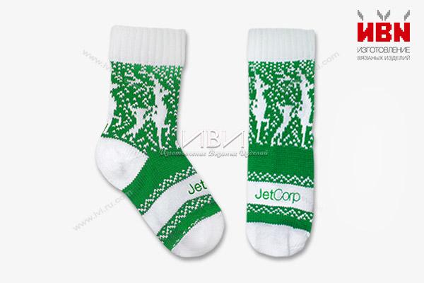 Вязаные носки с логотипом JetCorp