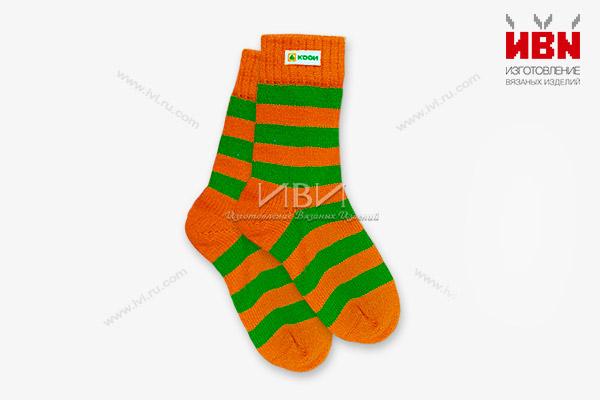 Вязаные носки с логотипом КОДИ