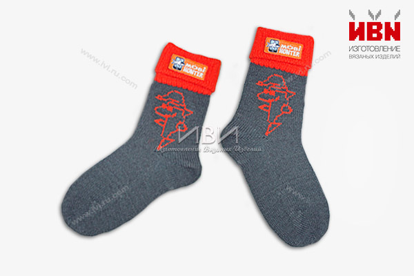 Вязаные носки с логотипом MOBI HUNTER