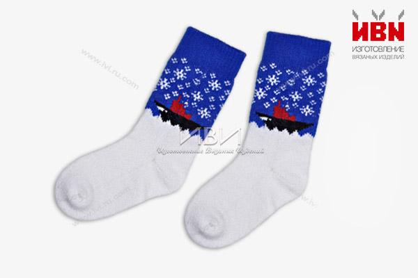 Вязаные носки с логотипом РОСАТОМ