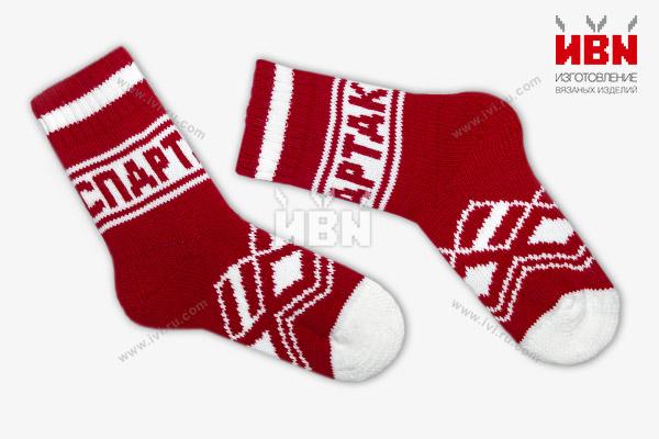 Вязаные носки с логотипом СПАРТАК