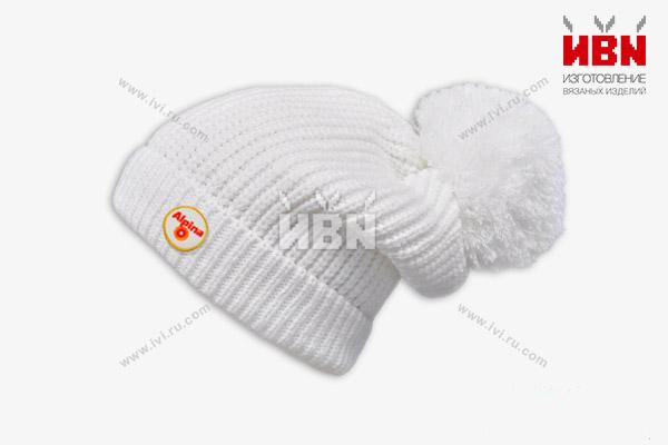 Вязаная шапка с логотипом Alpina