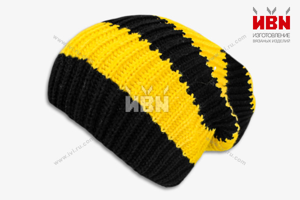 Вязаная шапка с логотипом Beeline