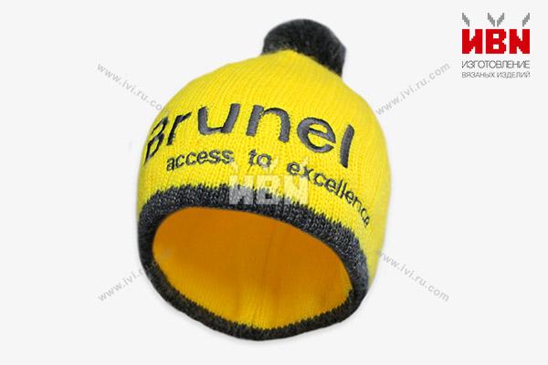 Вязаная шапка с логотипом Brunel