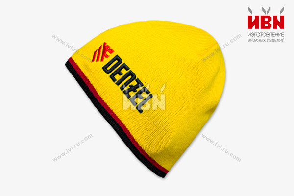 Вязаная шапка с логотипом DENZEL
