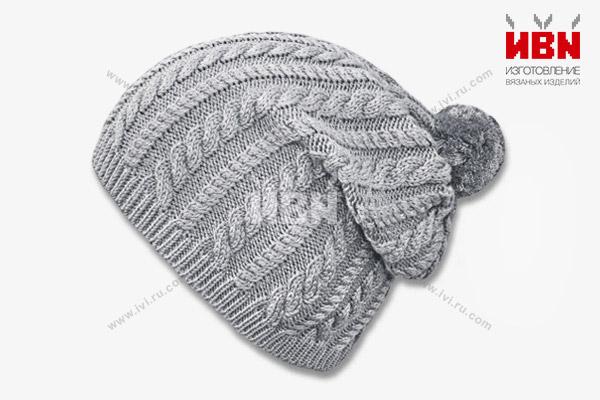 Вязаная шапка с логотипом ЭДО1
