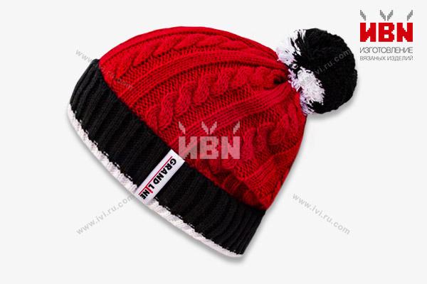 Вязаная шапка с логотипом GRAND LINE