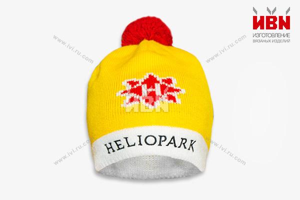 Вязаная шапка с логотипом HELIOPARK