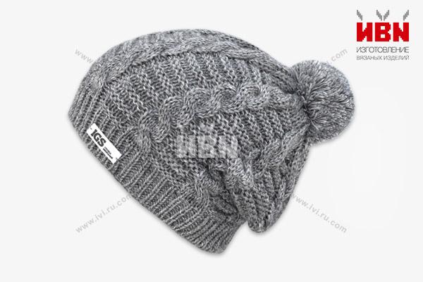 Вязаная шапка с логотипом IGS