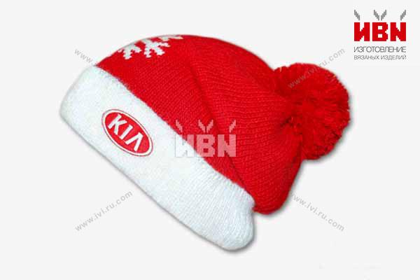 Вязаная шапка с логотипом KIA