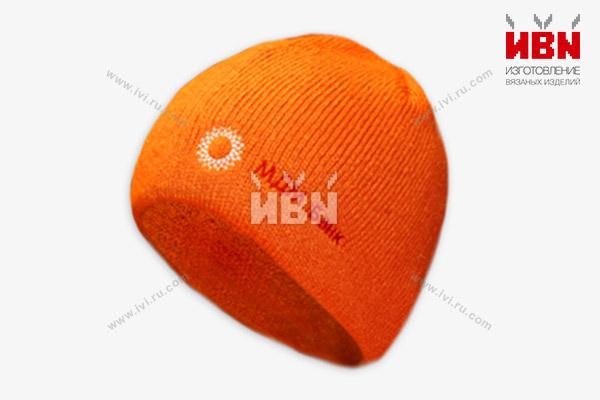 Вязаная шапка с логотипом МДМ Банк