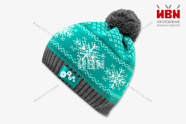 Вязаная шапка с логотипом Медси