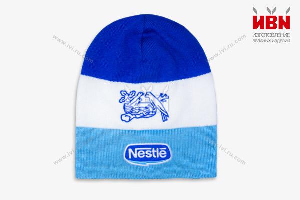 Вязаная шапка с логотипом Nestle