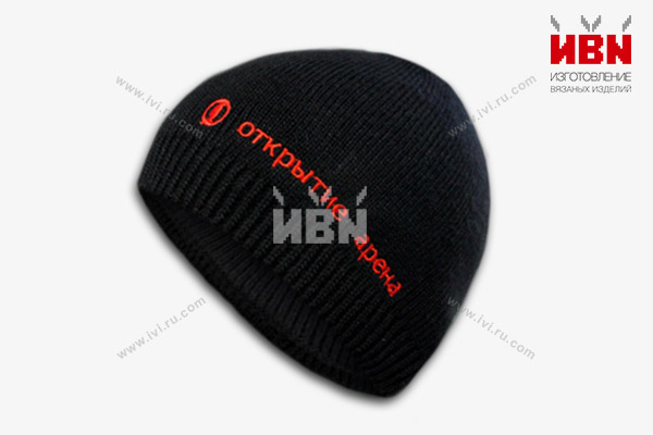 Вязаная шапка с логотипом Открытие арена