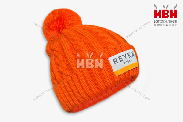 Вязаная шапка с логотипом REYKA