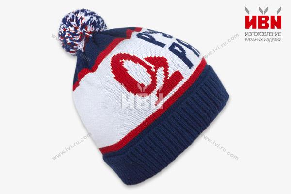 Вязаная шапка с логотипом РУССКОЕ РАДИО