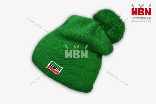 Вязаная шапка с логотипом sbarro