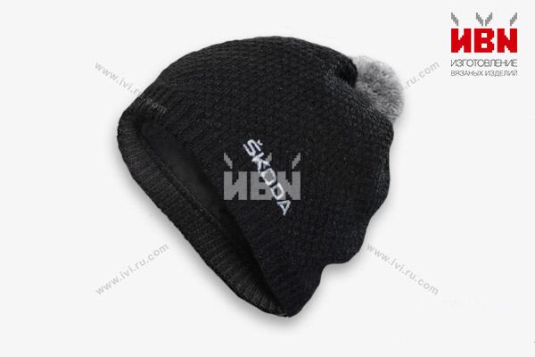 Вязаная шапка с логотипом SKODA