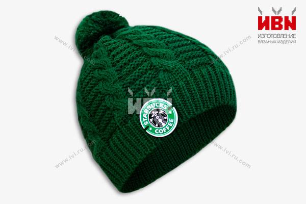 Вязаная шапка с логотипом STARBUCKS