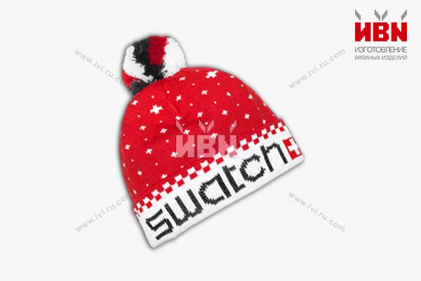 Вязаная шапка с логотипом SWATCH