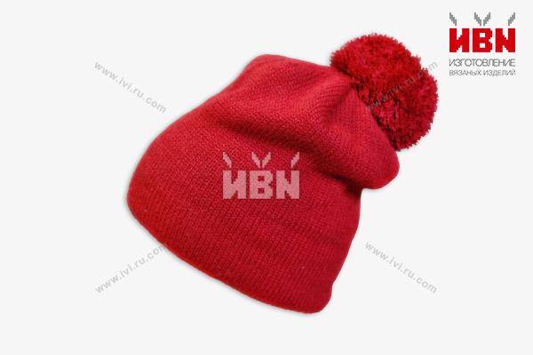 Вязаная шапка с логотипом Ваше Золото