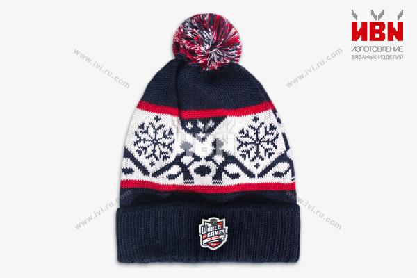 Вязаная шапка с логотипом WORLD GAMES
