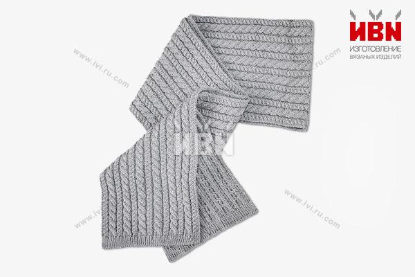 Вязаный шарф с логотипом ЭДО1