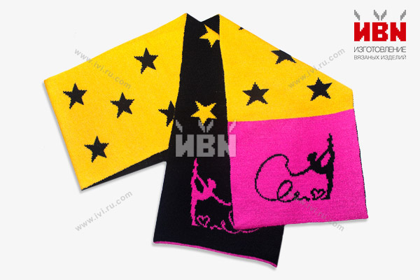 Вязаный шарф с логотипом Гимнастика