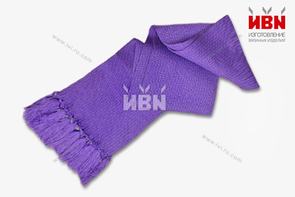 Вязаный шарф с логотипом Milka