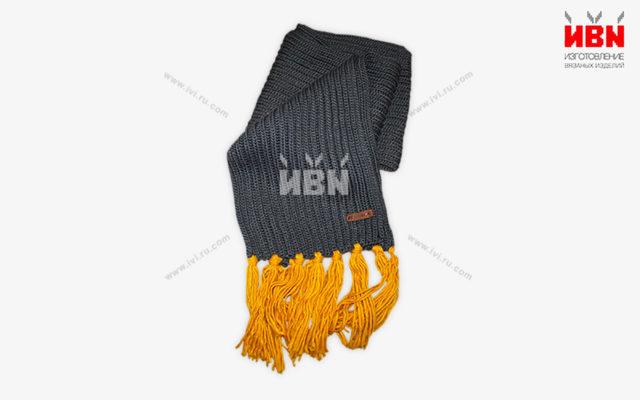 Вязаный шарф с логотипом