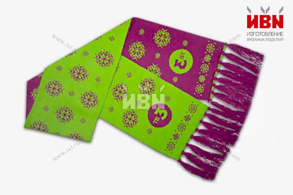 Вязаный шарф с логотипом ТВ3