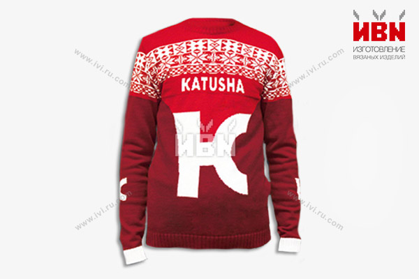 Вязаный свитер с логотипом КАТЮША