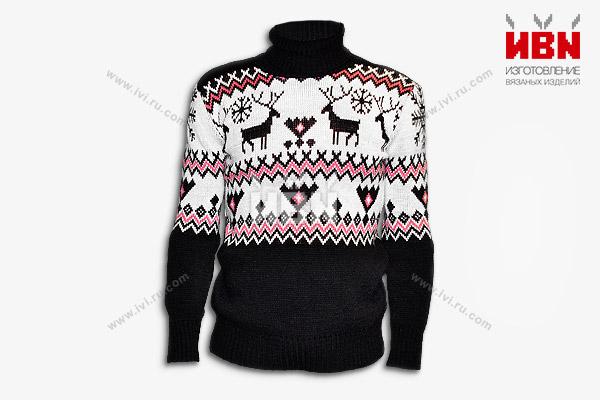 """Вязаный свитер """"Олени"""""""