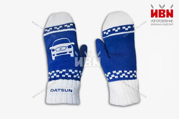Варежки с логотипом DATSUN