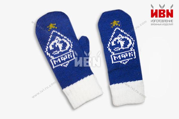 Варежки с логотипом Динамо